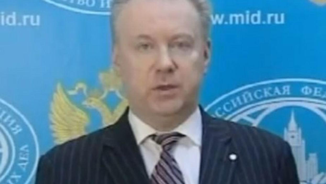 Alexander Lukashevich speaking about Russia's refusal to go to the 'Friends of Syria' conference.