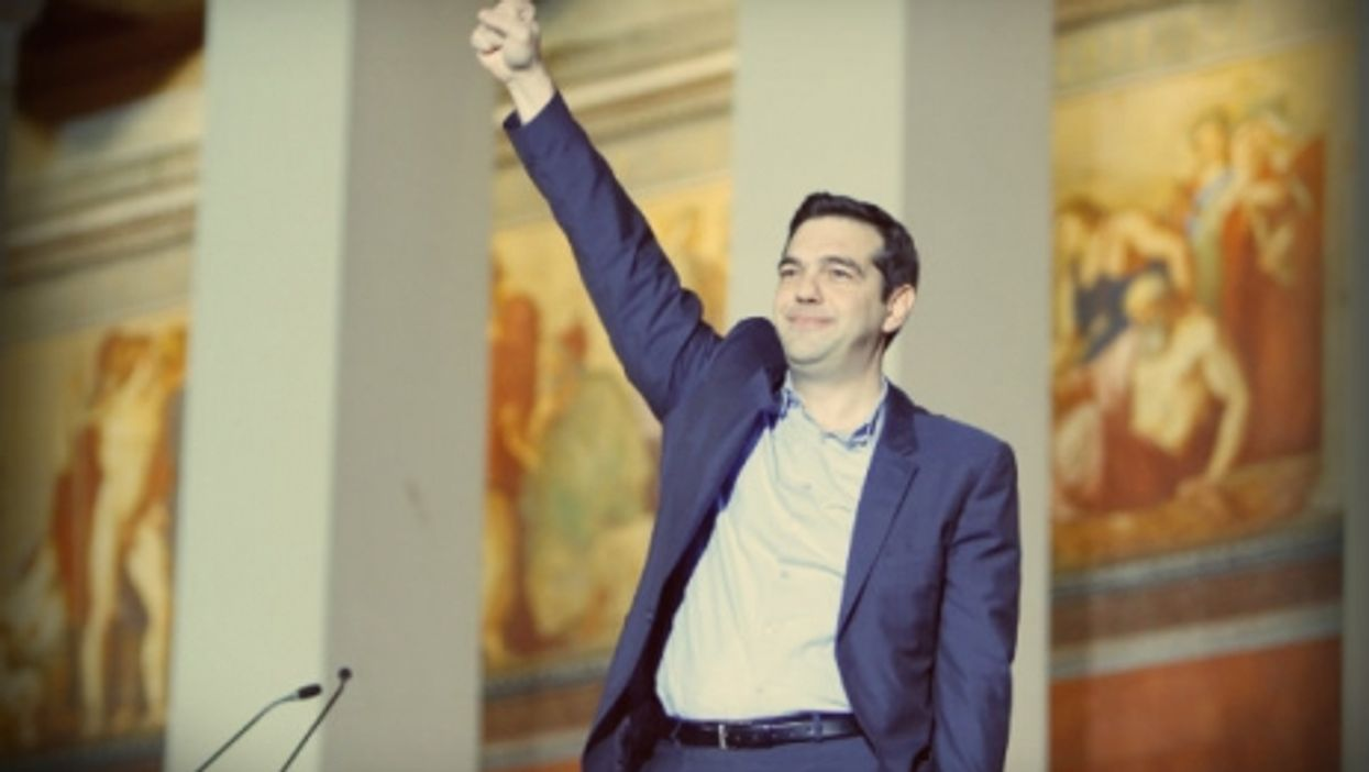 Alexis Tsipras in Athens after his January victory.