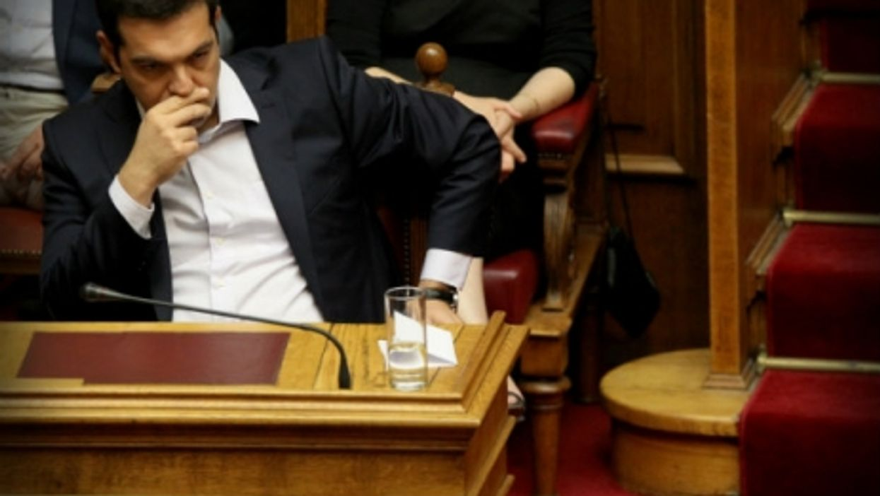 Alexis Tsipras last month in the Greek Parliament