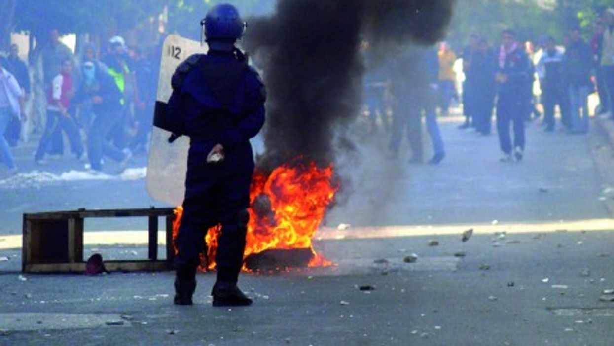 Algerian security services clashed with youth demonstrating over high unemployment and food prices.