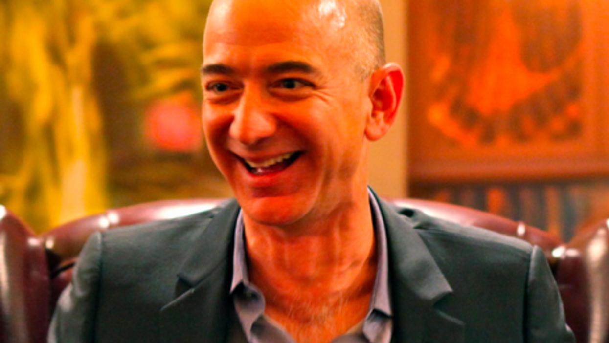 All smiles for Amazon founder Jeff Bezos
