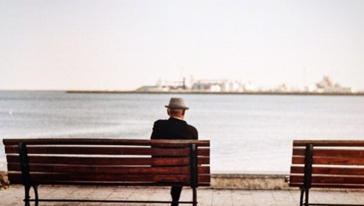 Alone on the bench