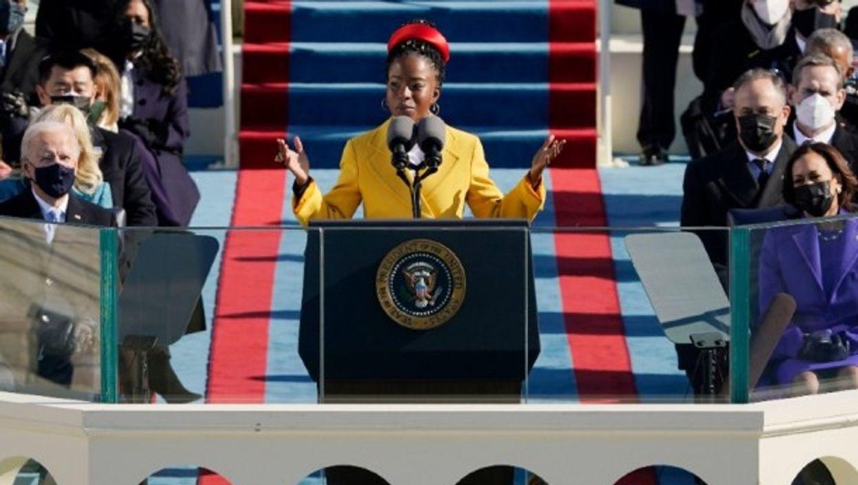 Amanda Gorman at the Biden-Harris inauguration on  Jan. 20, 2021