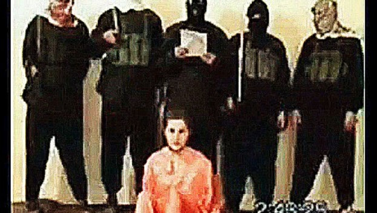 American businessman Nick Berg moments before he was beheaded by Islamist militants in Iraq