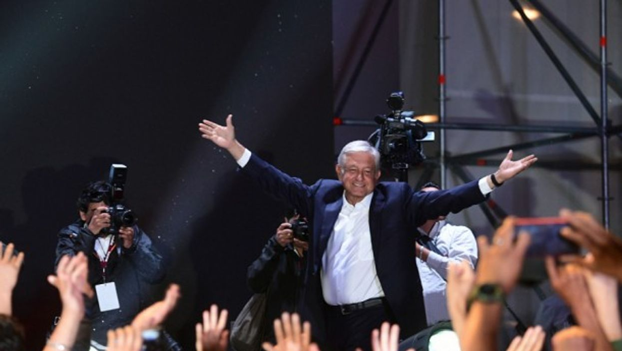 AMLO in Mexico City on July 2