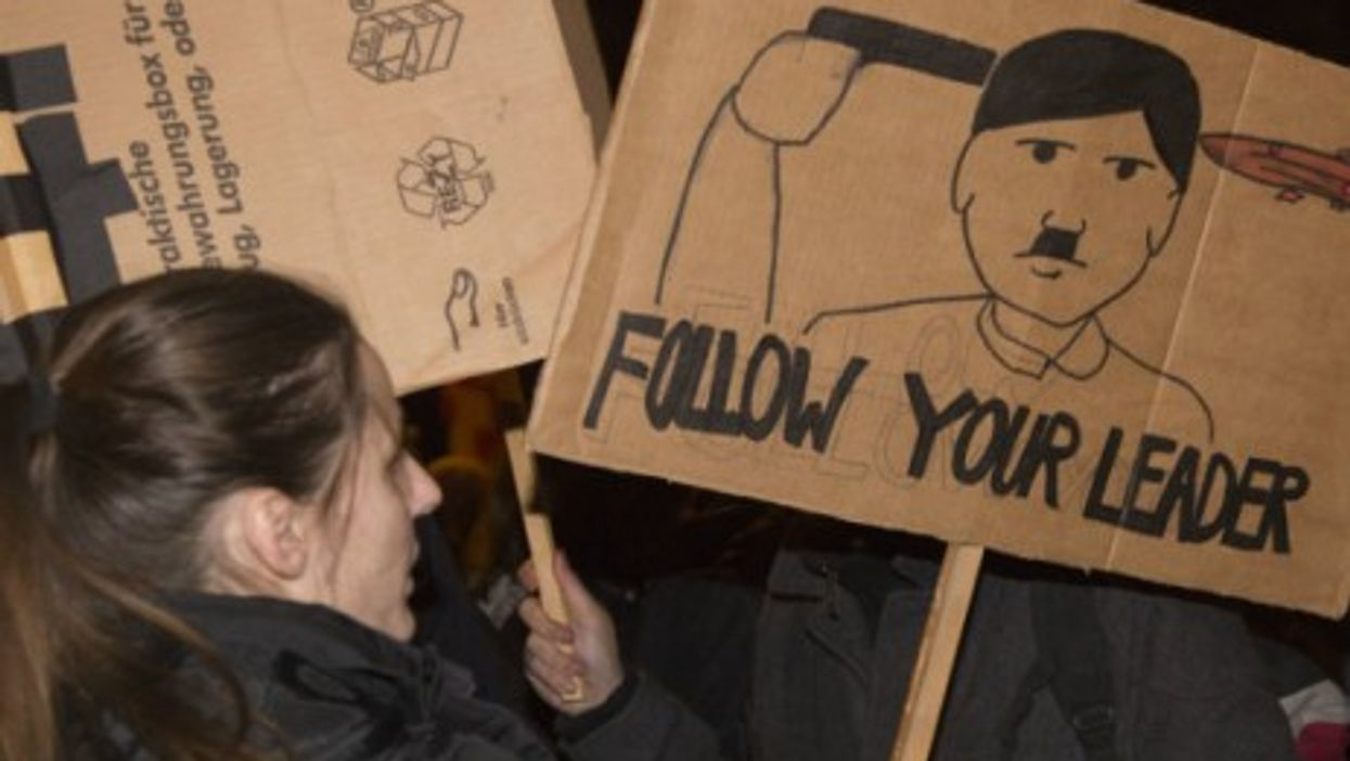 Among counter-protestors in Cologne where Pegida was likened to Hitler