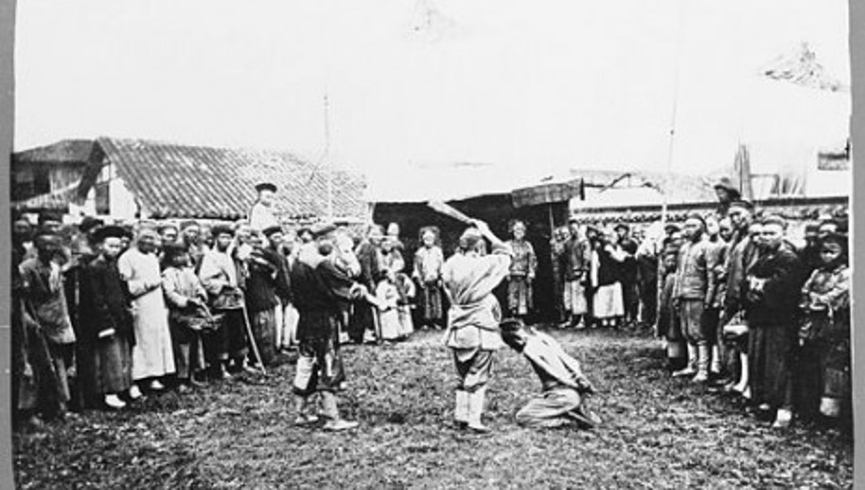 An 1867 public execution in China.