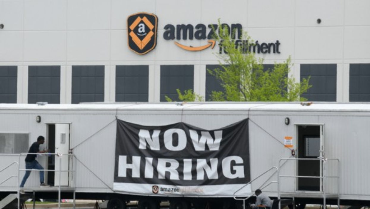 An Amazon Fulfillment Center in Kenosha, Wisconsin, days after over 30 employees tested positive for coronavirus.