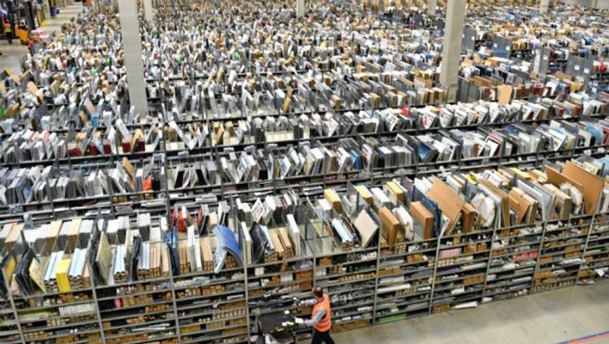 An Amazon warehouse in Pforzheim, Germany