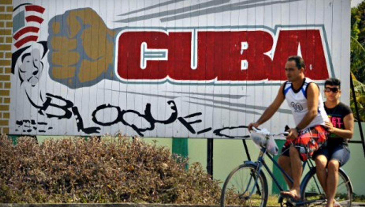 An anti-American billboard in Havana
