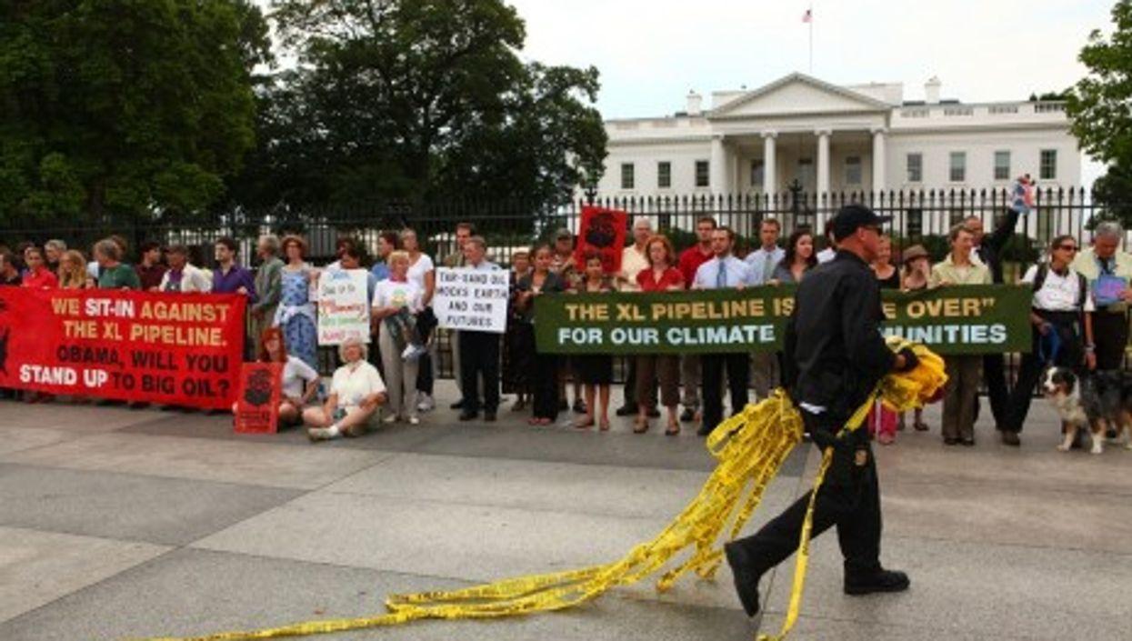 An anti-KXL protest held Aug. 25 in Washington (tarsandaction)