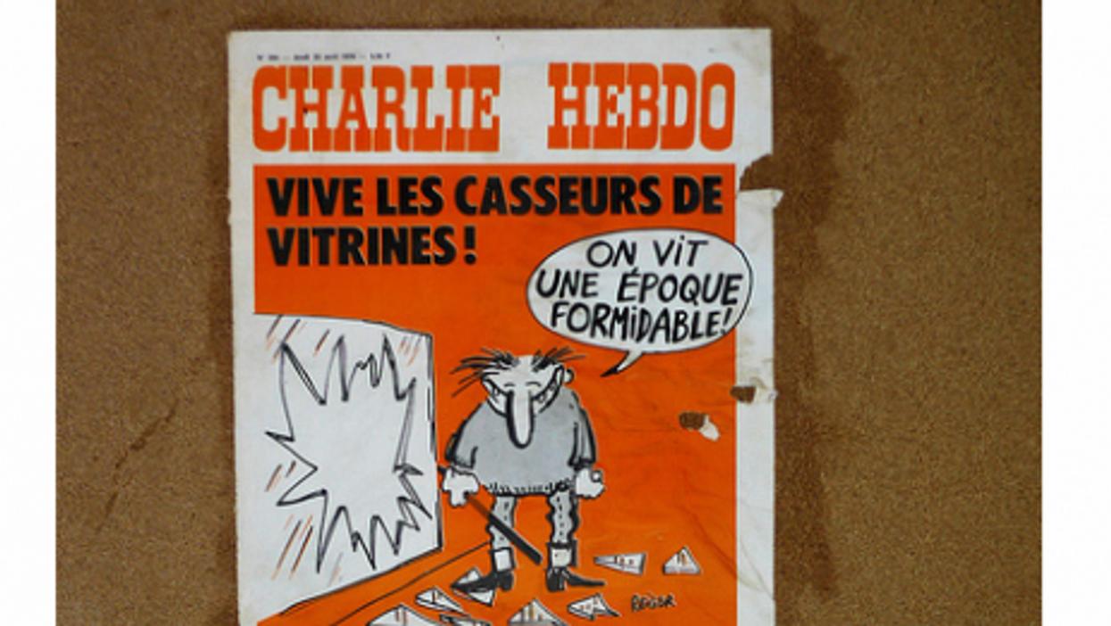 An earlier issue of Charlie Hebdo (spidey-man)