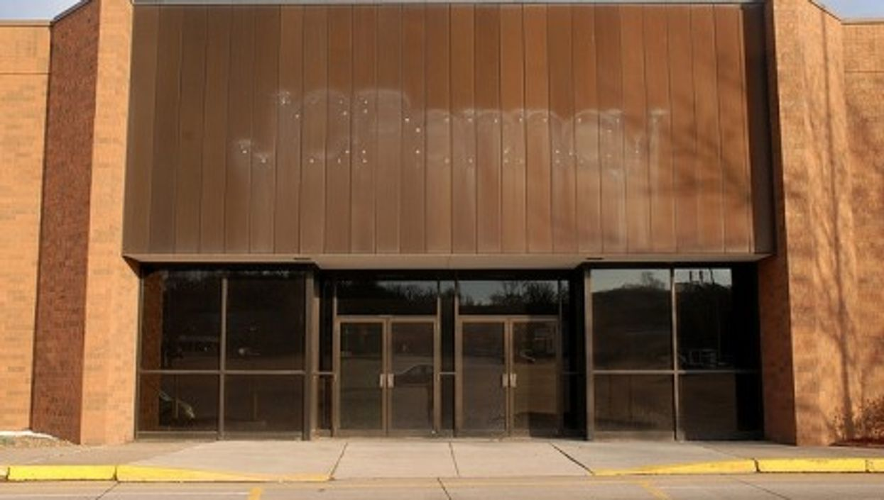 An empty department store, once occupied by J. C. Penney, in the U.S. state of Nebraska