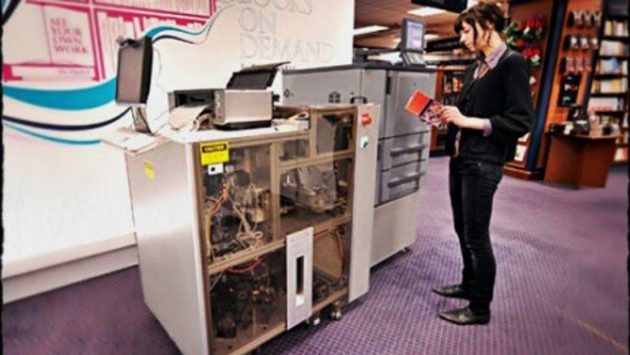 An Espresso Book Machine in NYC