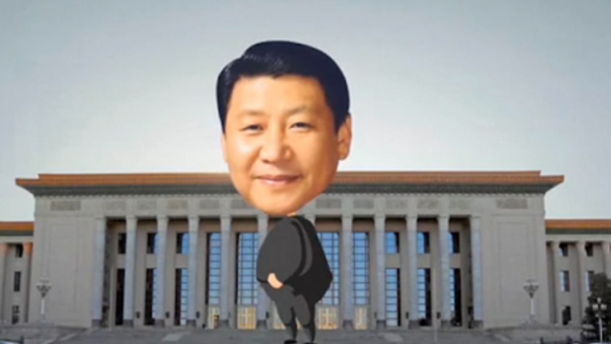 An image of Xi from the video in question.