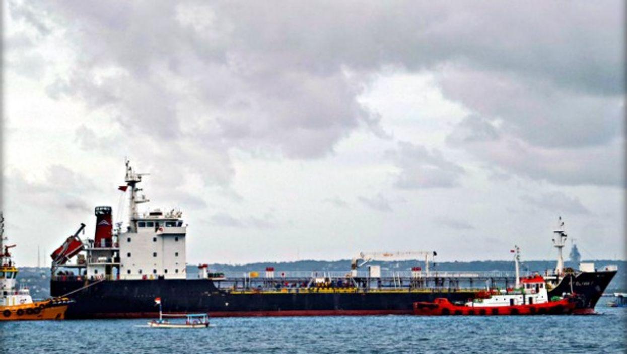 An Indonesian oil tanker