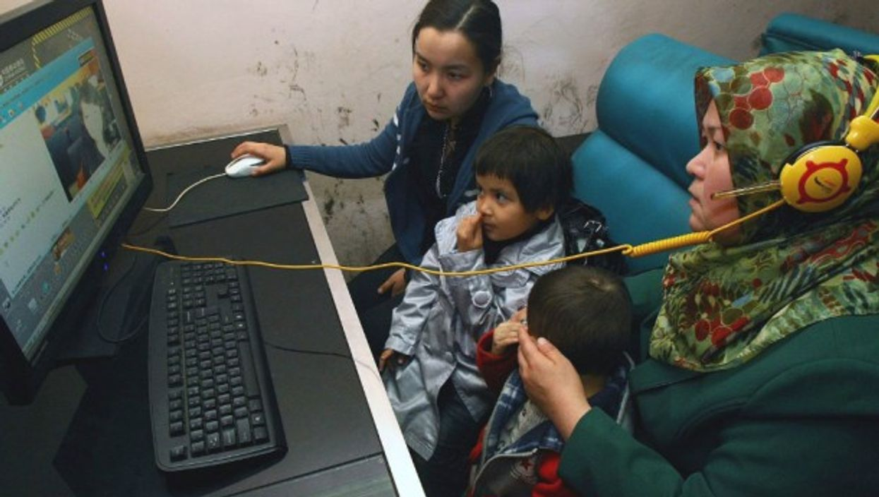 An Internet cafe in northwest China