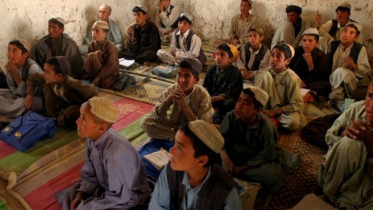 An Islamic class in a small school near Quetta, Pakistan.