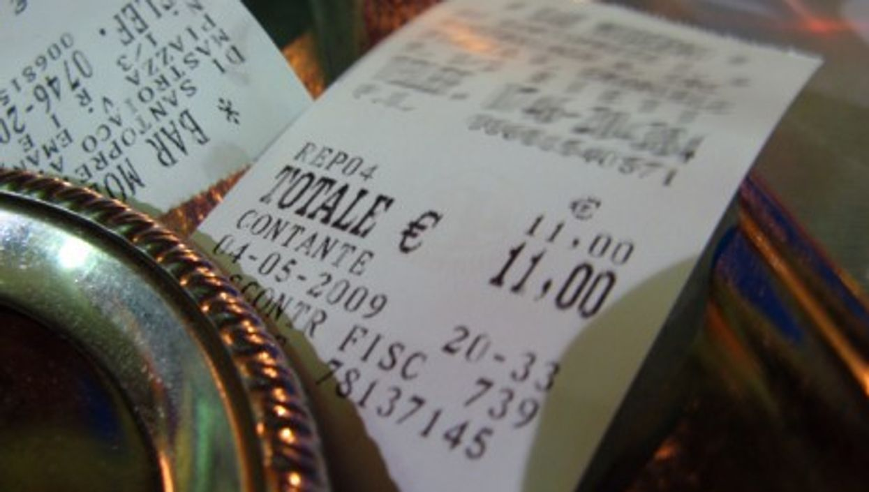 An Italian receipt, called a