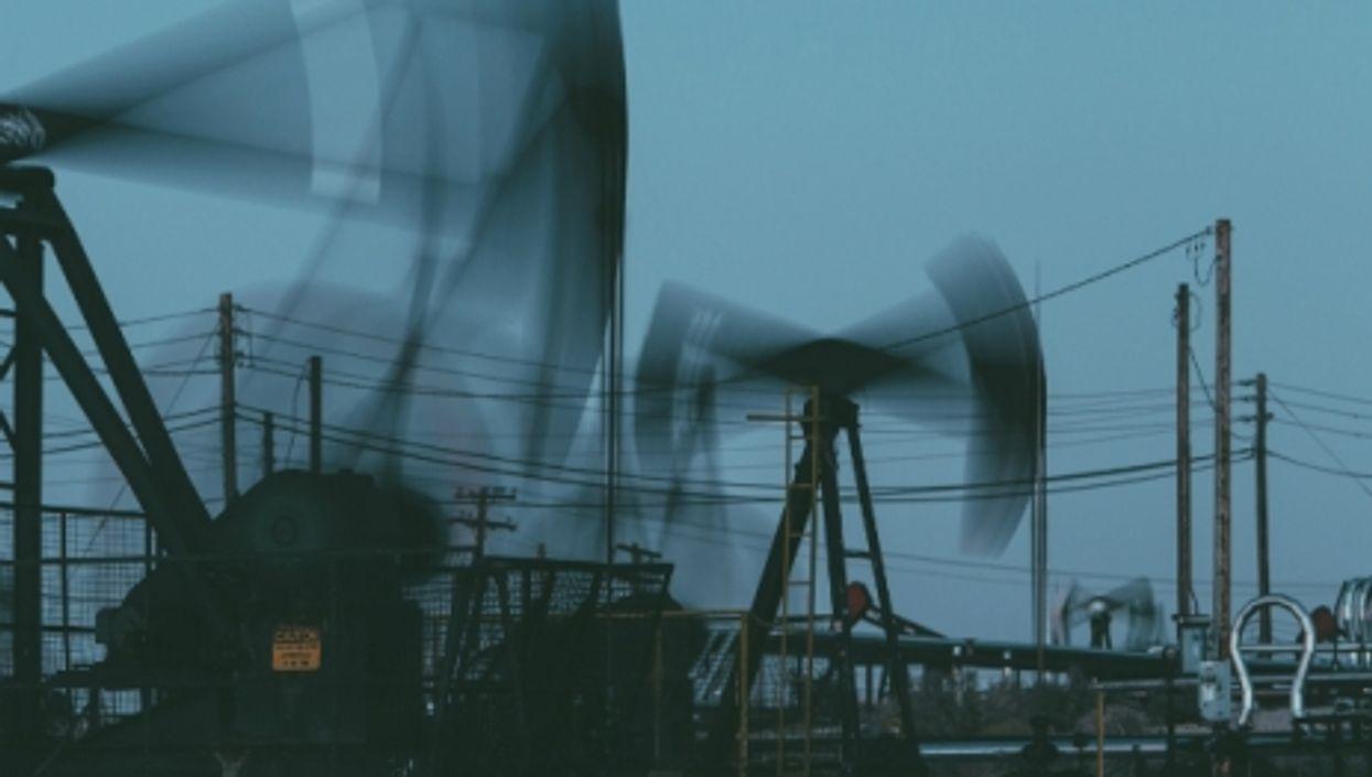 An oil field outside Bakersfield, California.