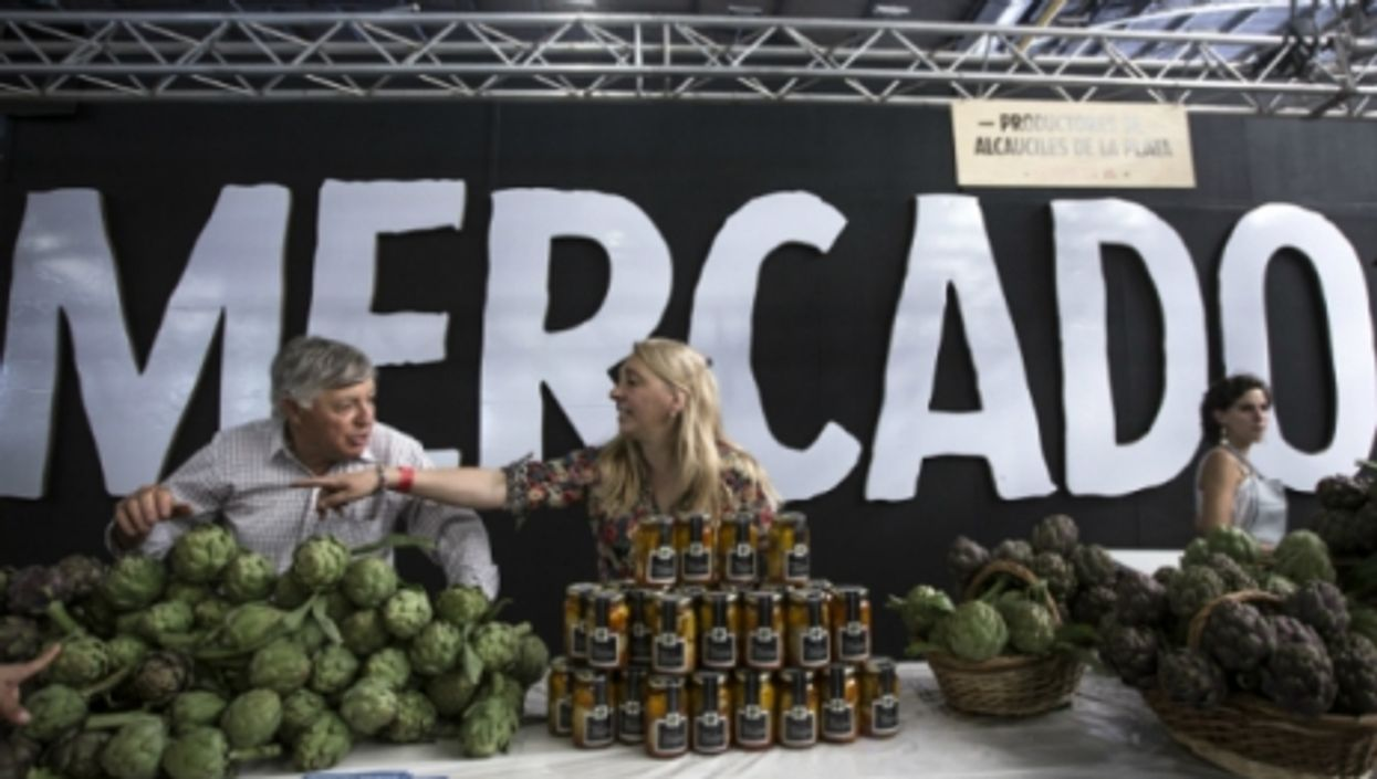 An organic market in Buenos Aires