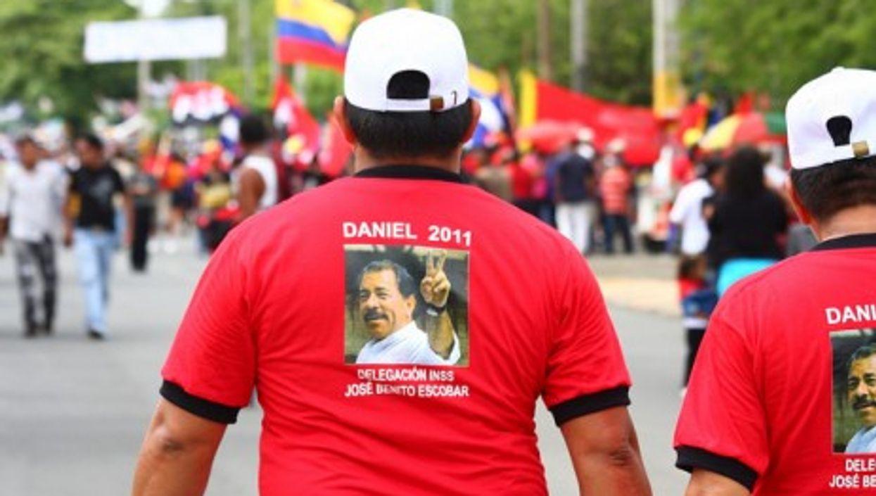 An Ortega campaign rally earlier this year (jorgemejia)