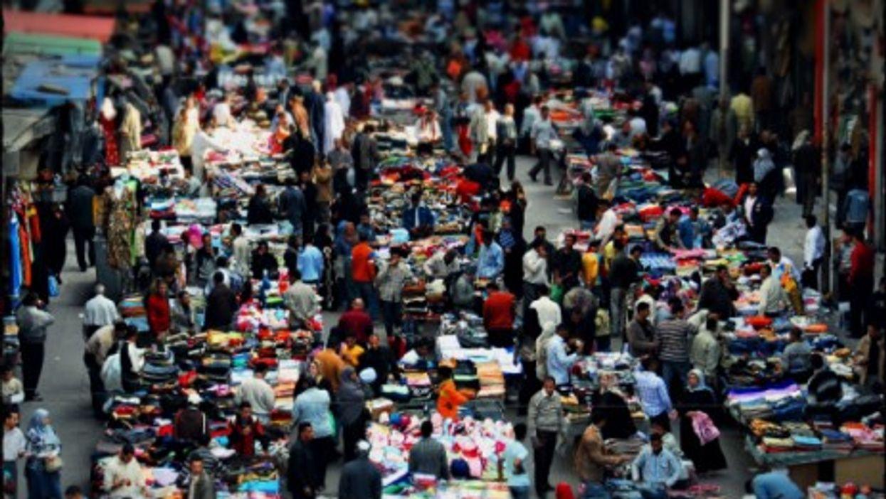 An outdoor market in Cairo