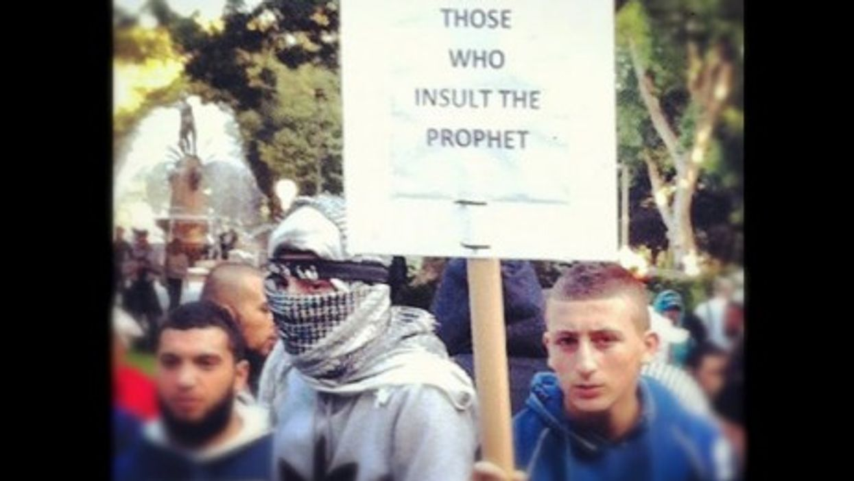 An ugly threat at an Islamic rally in Sydney