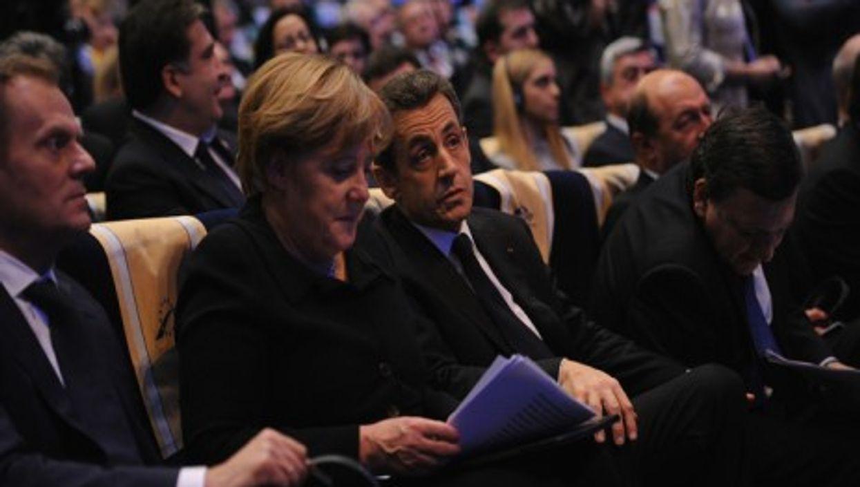 Angela Merkel and Nicolas Sarkozy at last year's EPP congress in Marseille.
