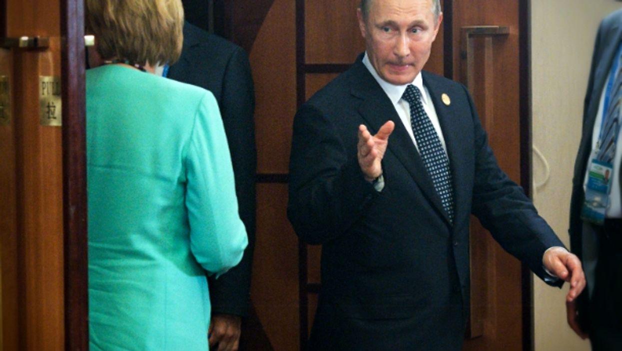 Angela Merkel and Vladimir Putin on Sept. 4
