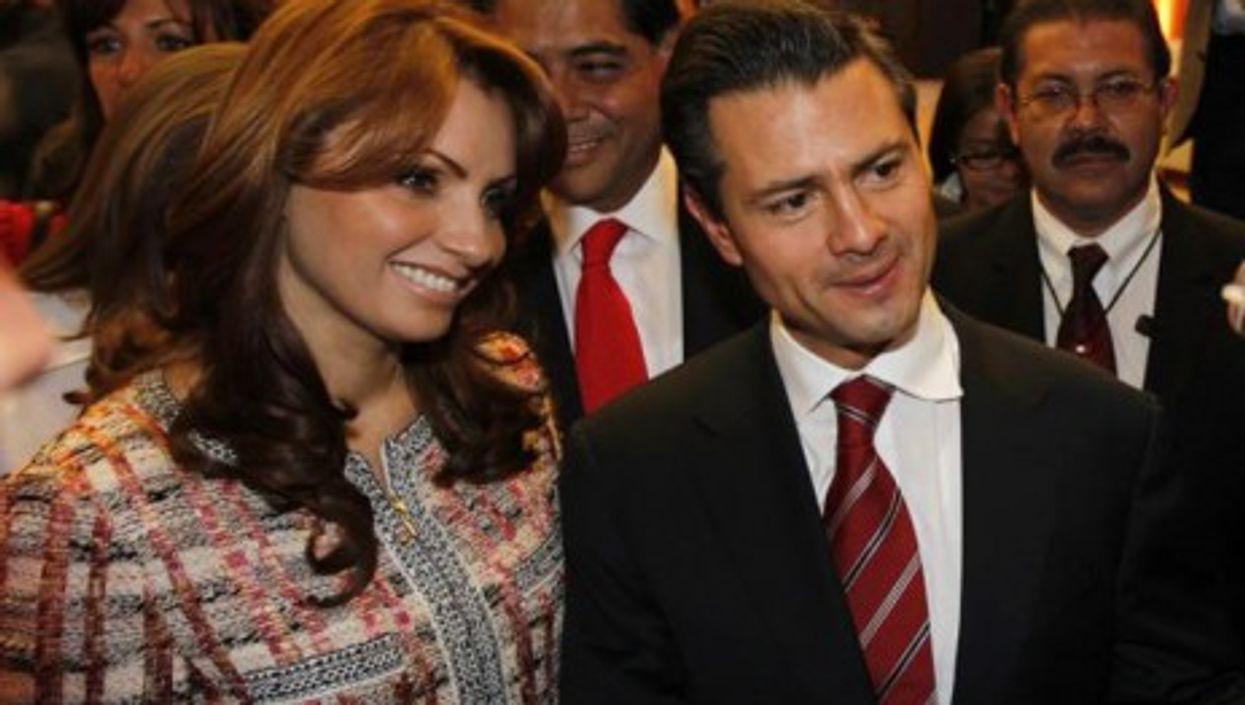 Angélica Rivera with Enrique Peña Nieto in October 2011 (Angélica Rivera de Peña)