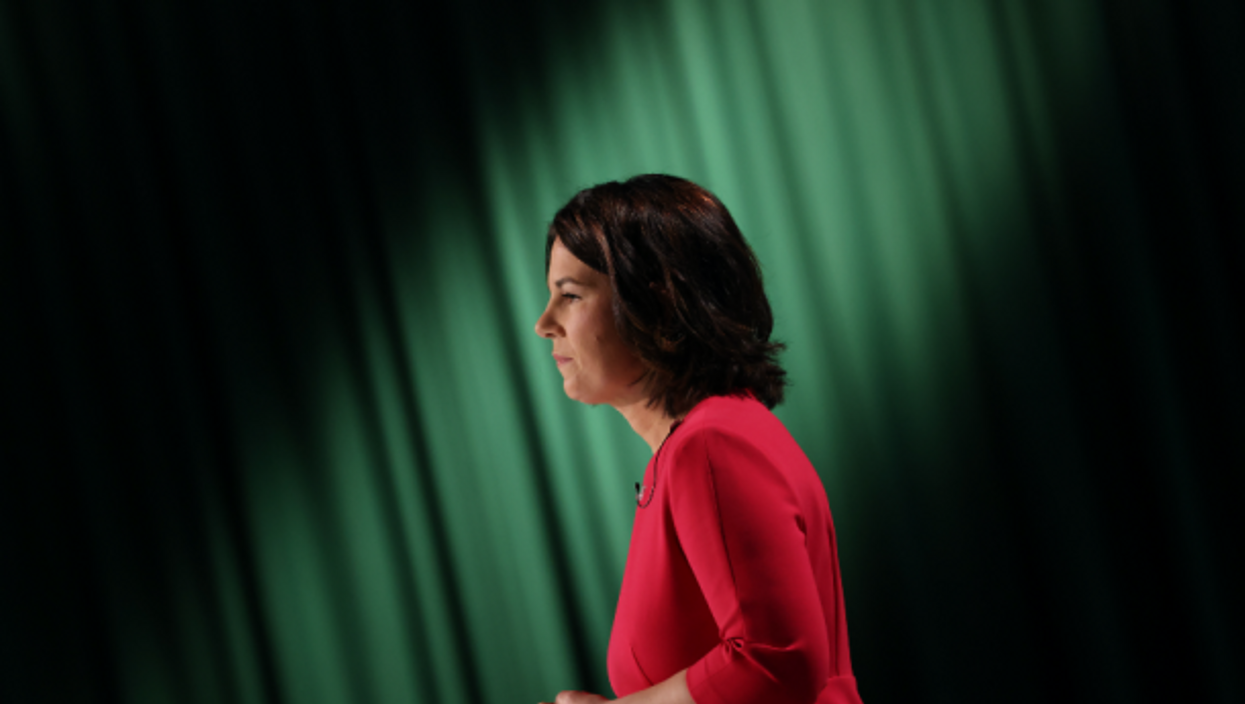 Annalena Baerbock speaking at the Greens Party virtual federal party in Berlin,  June 12, 2021