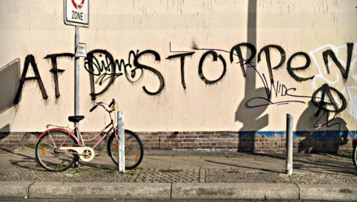Anti-AfD graffiti in Berlin