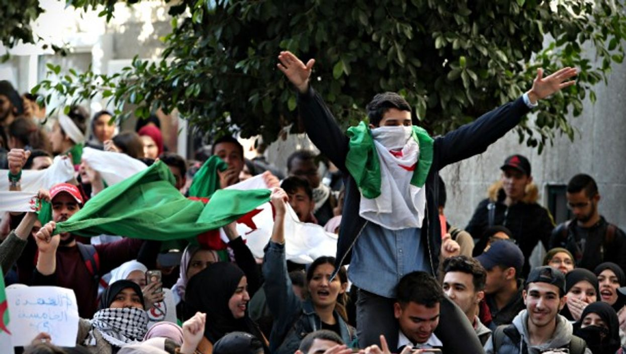 Anti-Bouteflika protests in Algiers on Feb. 26