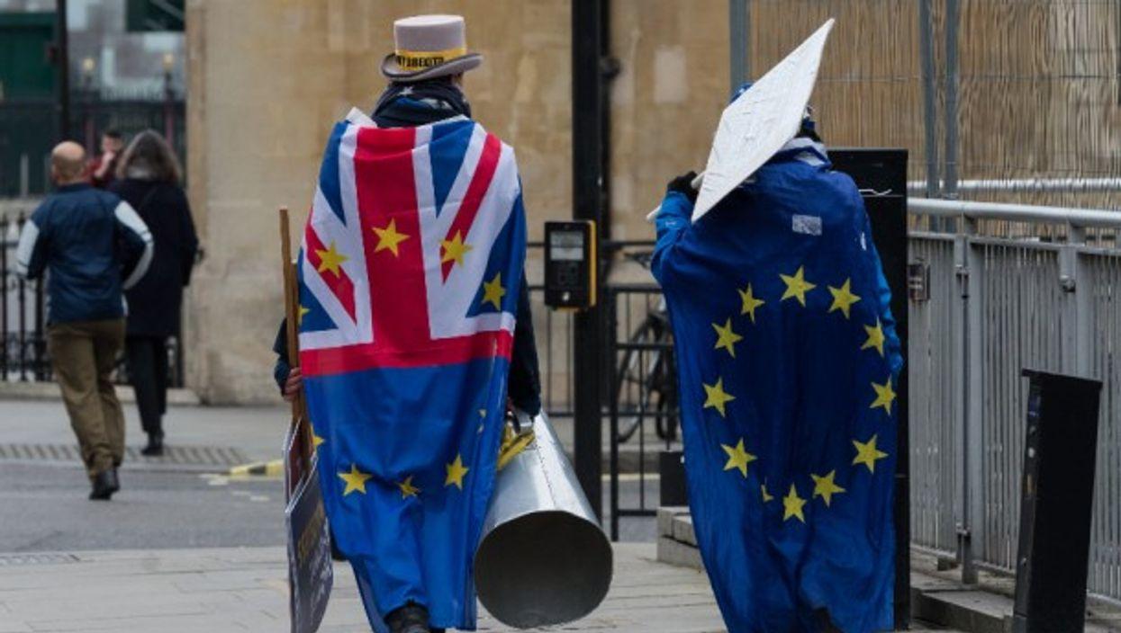 Anti-Brexit demonstrators in central London