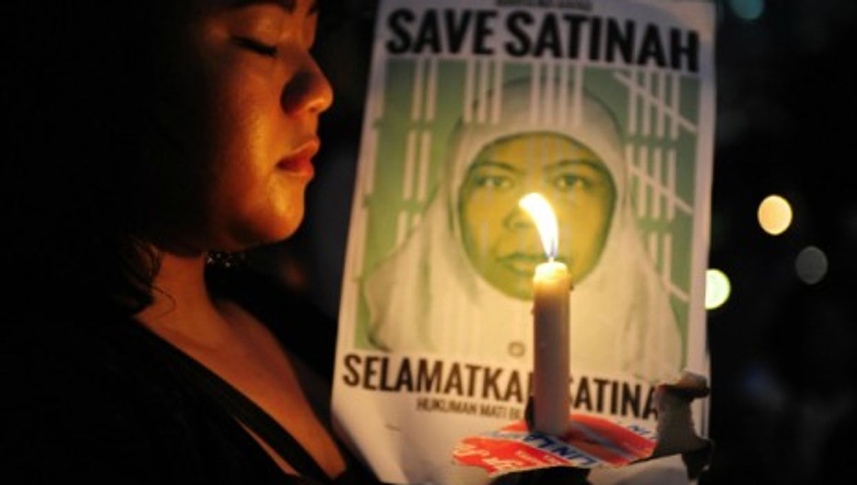 Anti-death penalty protest in Jakarta