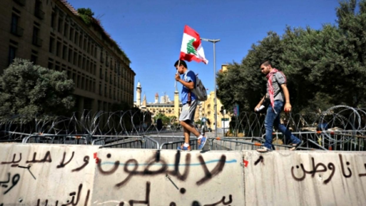 Anti-government protest in Beirut on Sept. 20