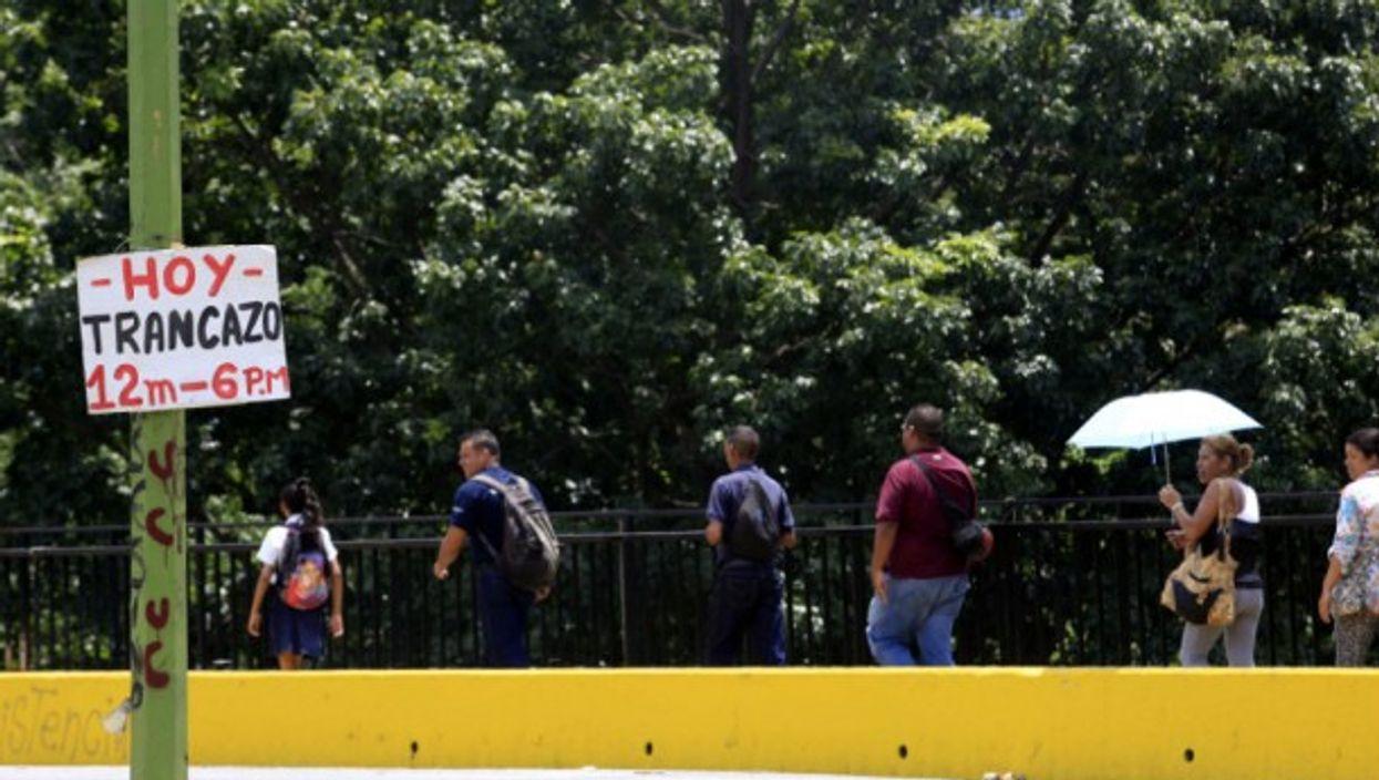 Anti-government protesters last month in Valencia, Venezuela