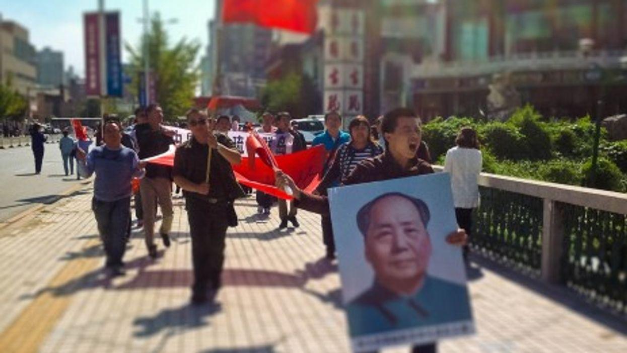Anti-Japan rally in Shenyang, China