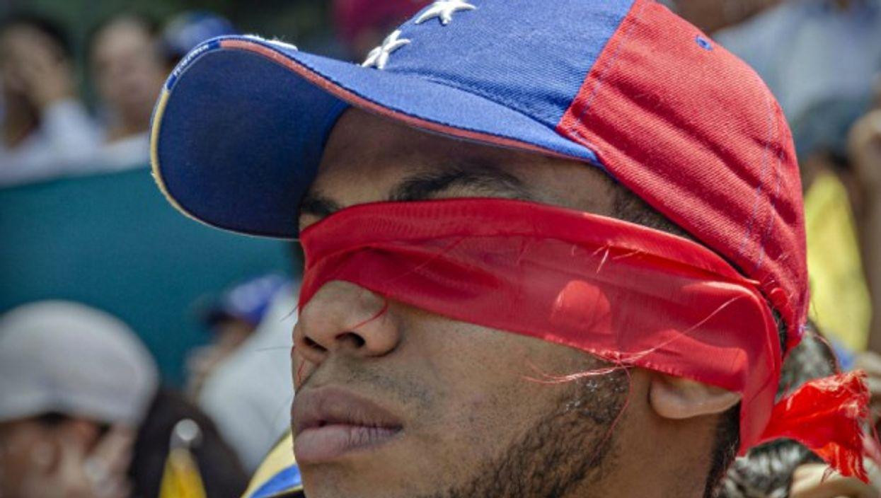 Anti-Maduro protest in Caracas, Venezuela on July 5