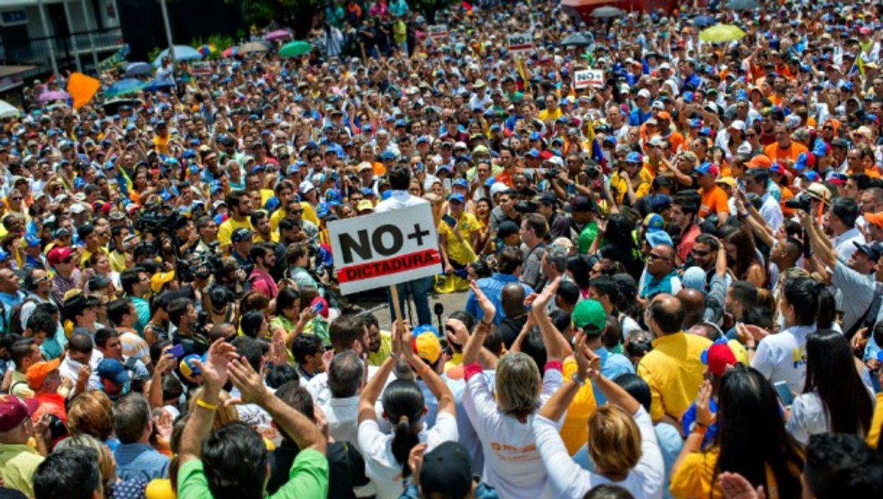 Anti-Maduro protest in Caracas