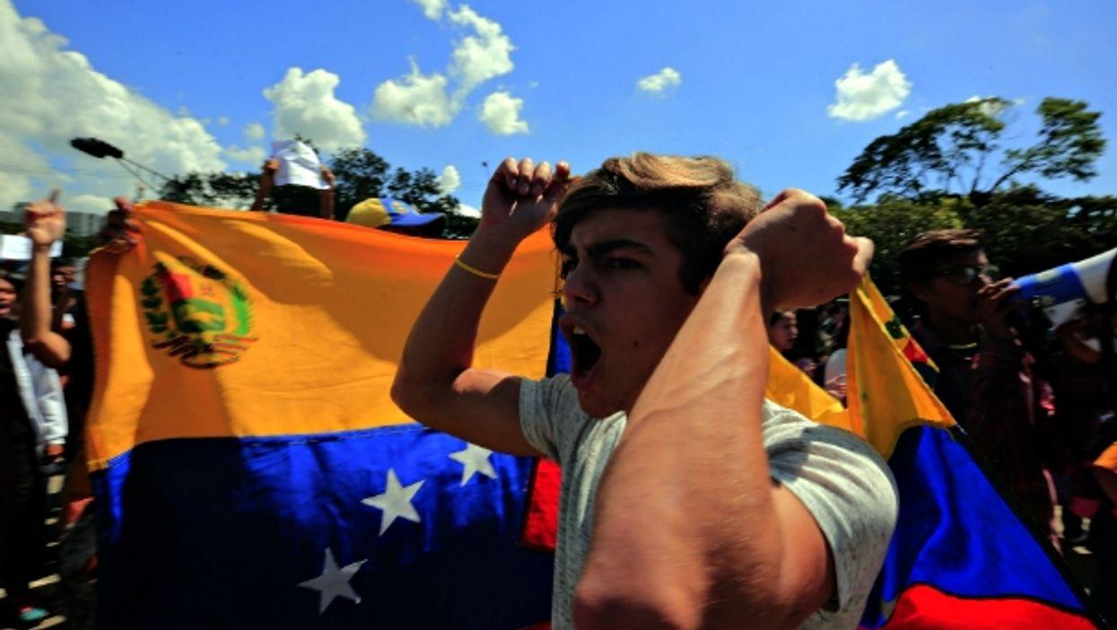 Anti-Maduro protests in Valencia, Venezuela, on Oct. 24