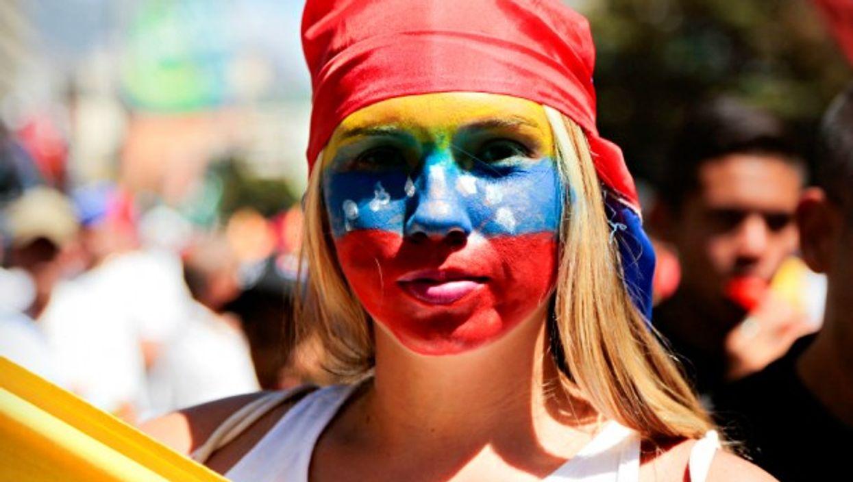 Anti-Maduro rally in Caracas on Feb. 12