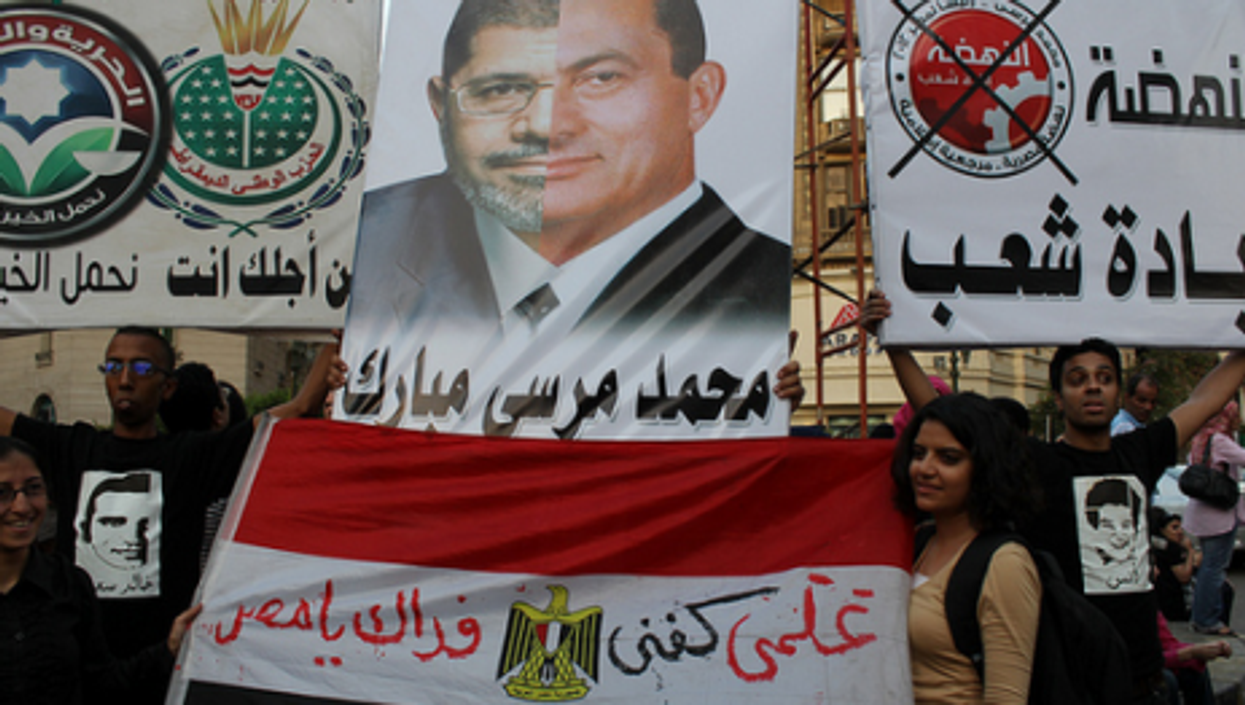 Anti-Morsi protests last year in Cairo
