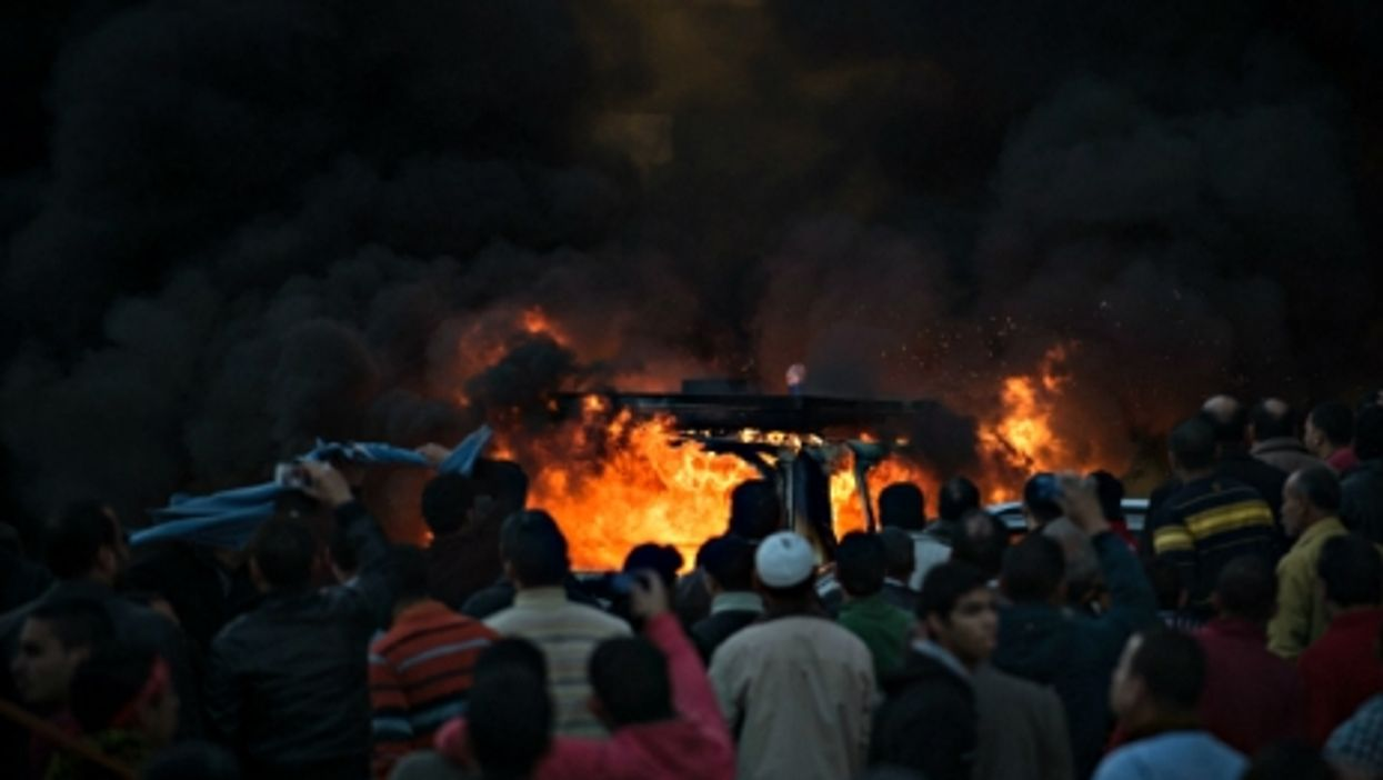 Anti Muslim Brotherhood protests in Mansoura, in Egypt's Dakahlia Governorate