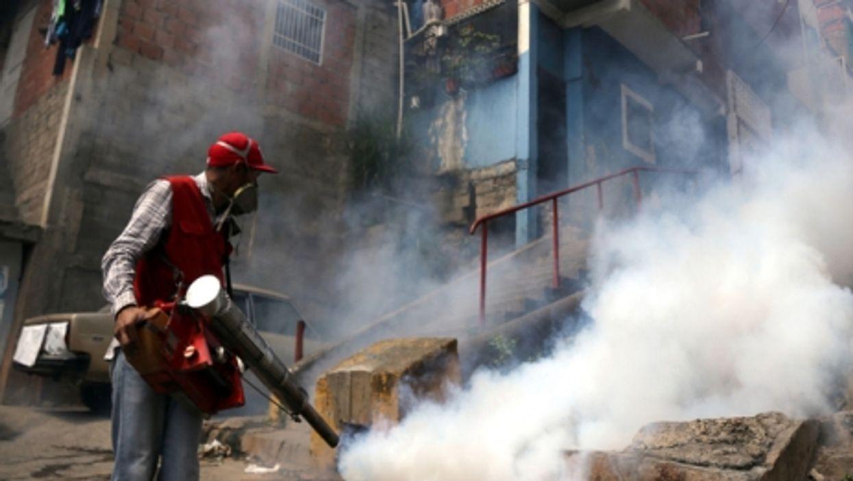 Anti-Zika fumigation campaign in Caracas, Venezuela