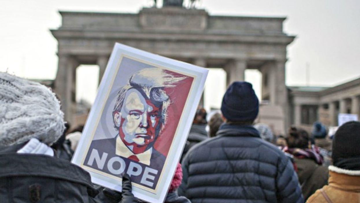 Anto-Trump protests in Berlin on Feb. 4