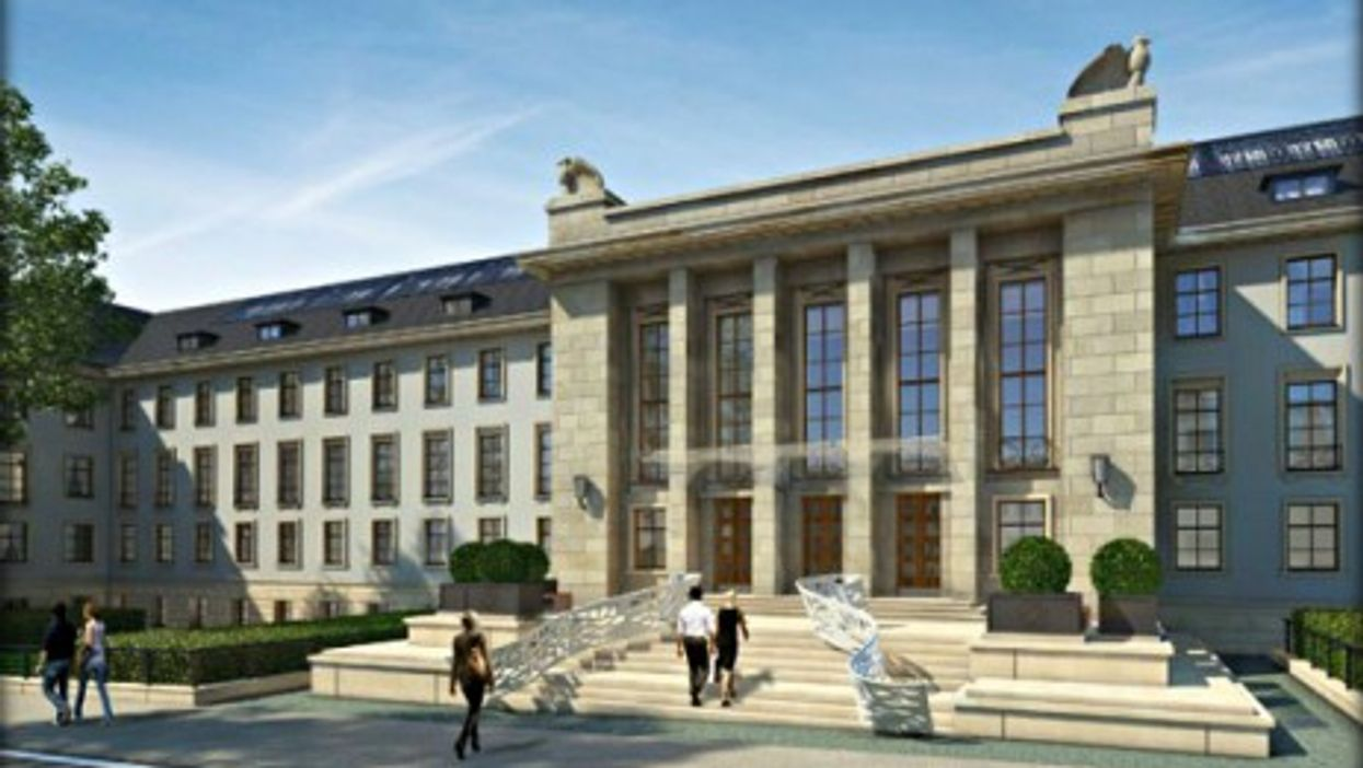 Architectural rendering of the Sophienpalais, part of the future luxury residences