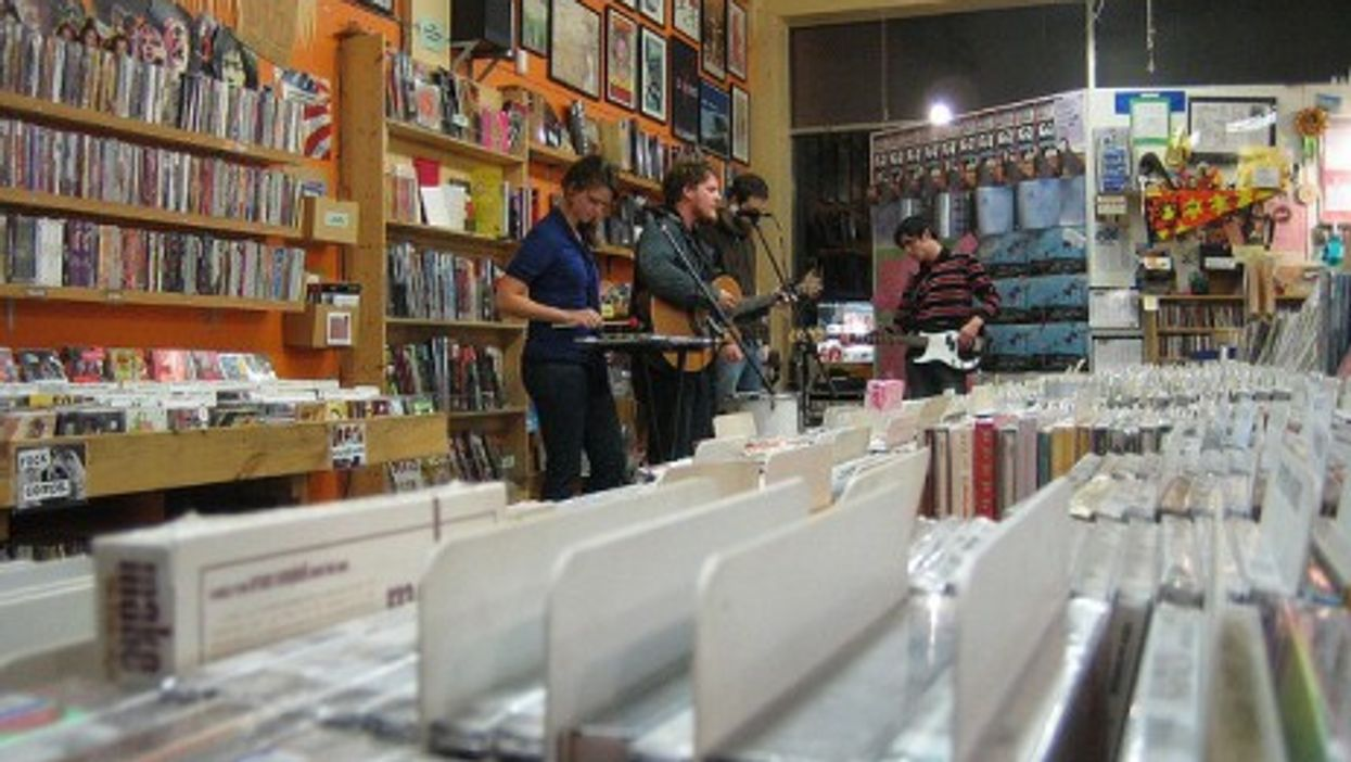Are old-style record stores, like this one in Seattle, destined for dustbin. (Dustin and Jenae)