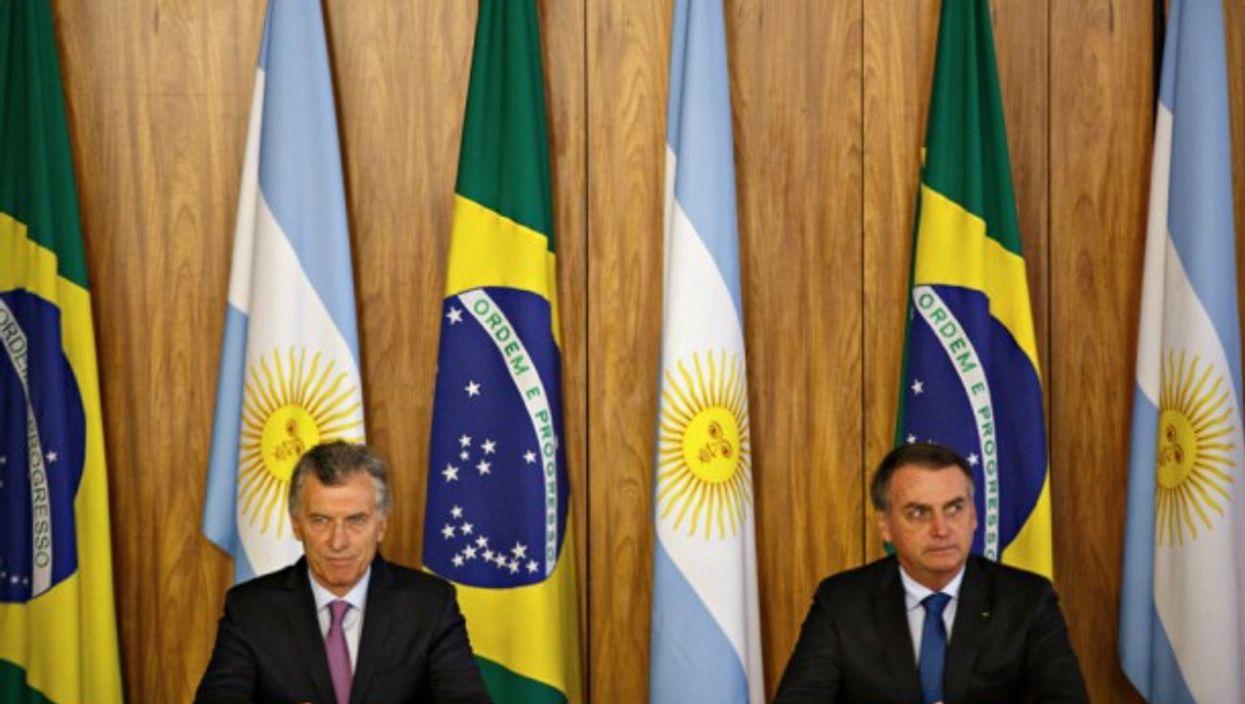 Argentina's Macri and Brazil's Bolsonaro in Brasilia